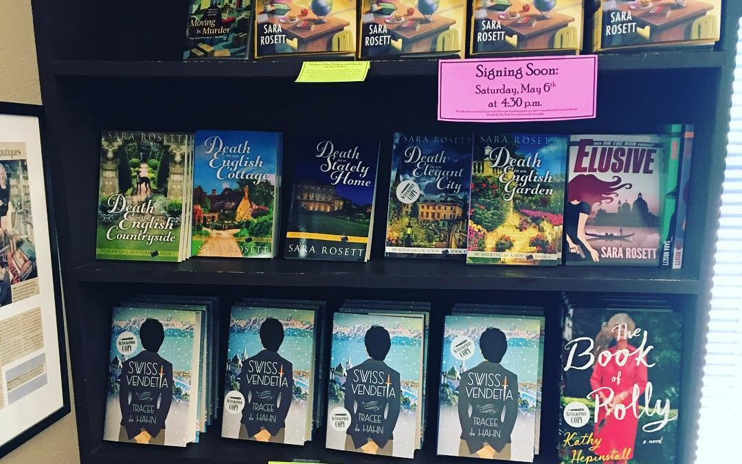 Thanks, Murder by the Book for such a nice display!