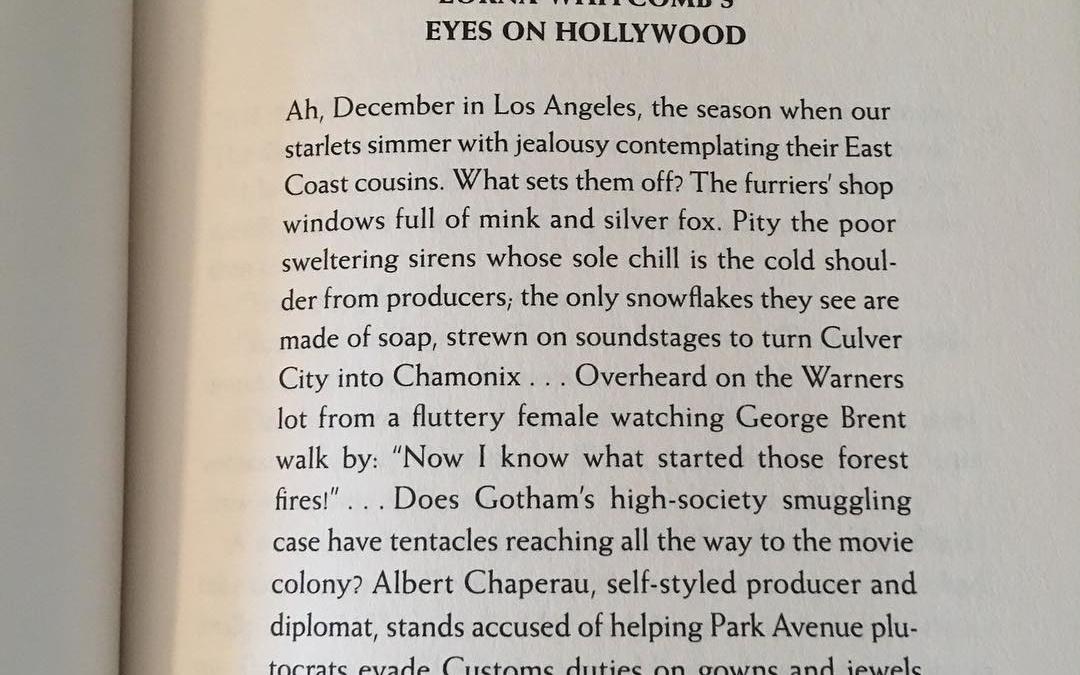 """I love books that start with a newspaper excerpt like this gossip column from Dangerous to Know, a historical mystery set in 1930s Hollywood. I'm not a fan of prologues. I usually skip a prologue but will read a news excerpt. What about you? Do you like """"extras"""" at the beginning of a book (prologue, news articles, etc)? Do you read or skip them?"""