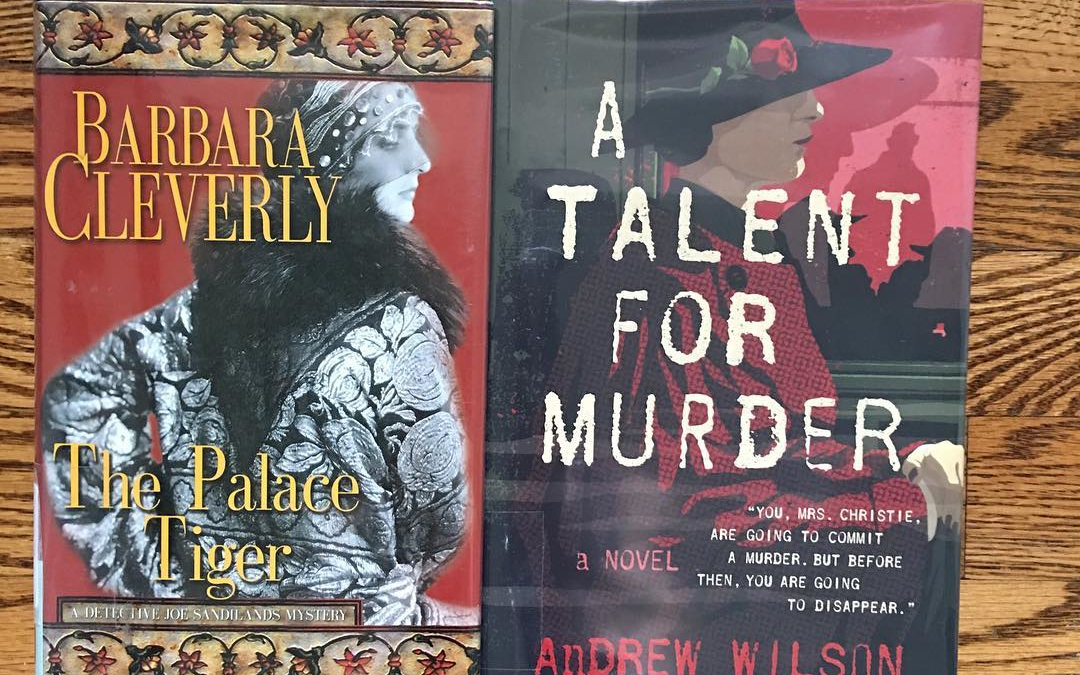 I'm just now getting around to posting my weekend reads, two historical mysteries–one about Agatha Christie and one set in 1920s India.