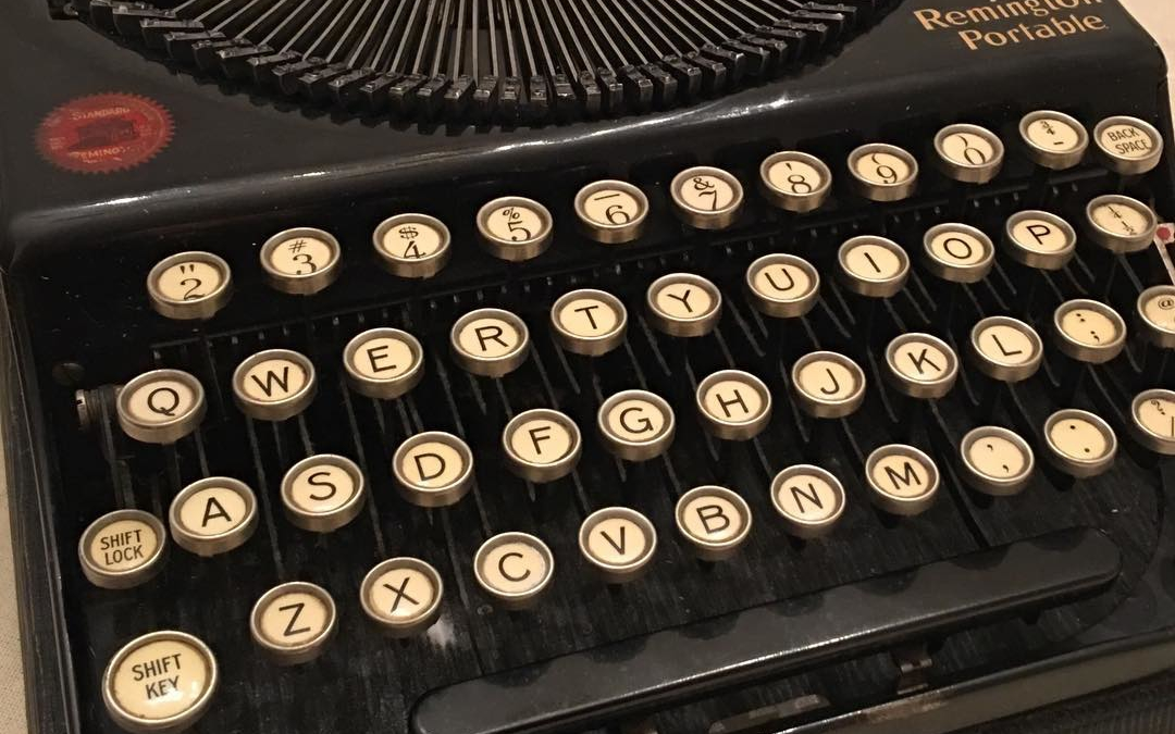 Me (to my husband): I think I should buy a vintage typewriter for research and so I can use it in promotion photos….and because they're cool.  Him: I can see that.  Me: You win the Awesome Husband of the Day award
