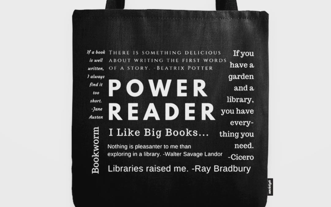 Need a gift for a bookworm? Grab this bookish tote for 25% off + plus free shipping with during the Black Friday Sale @society6. Link in profile or https://society6.com/sararosett. 🎁 🎄☃️❄️ Use code: BLACKFRIDAY