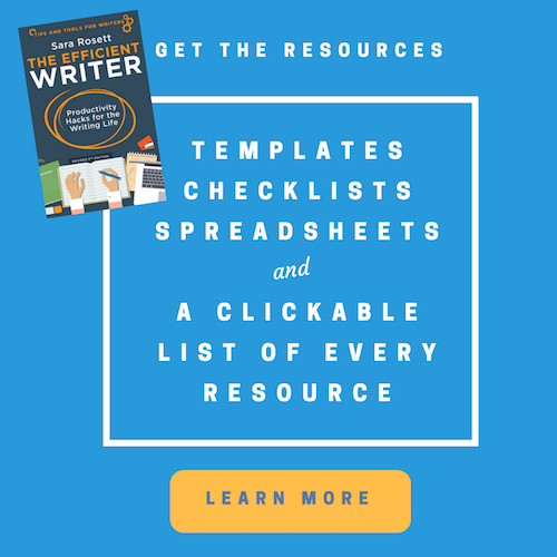 Efficient Writer Templates, Checklists, Spreadsheets, and Resources