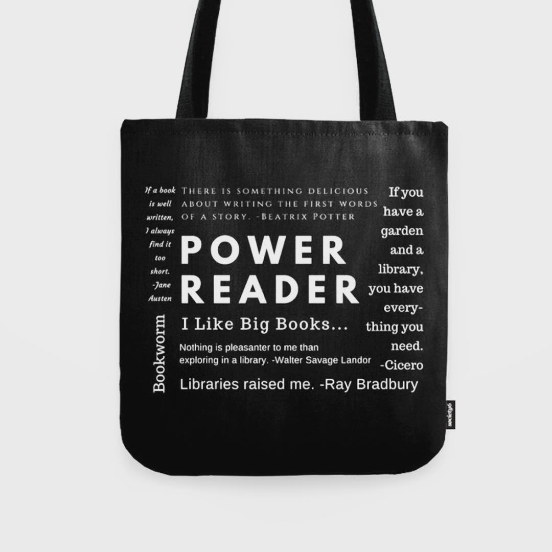 Need a gift for a bookworm? Grab this bookish tote for 25% off + plus free shipping with during the Black Friday Sale @society6. Link in profile or https://society6.com/sararosett. ? ?☃️❄️Use code: BLACKFRIDAY
