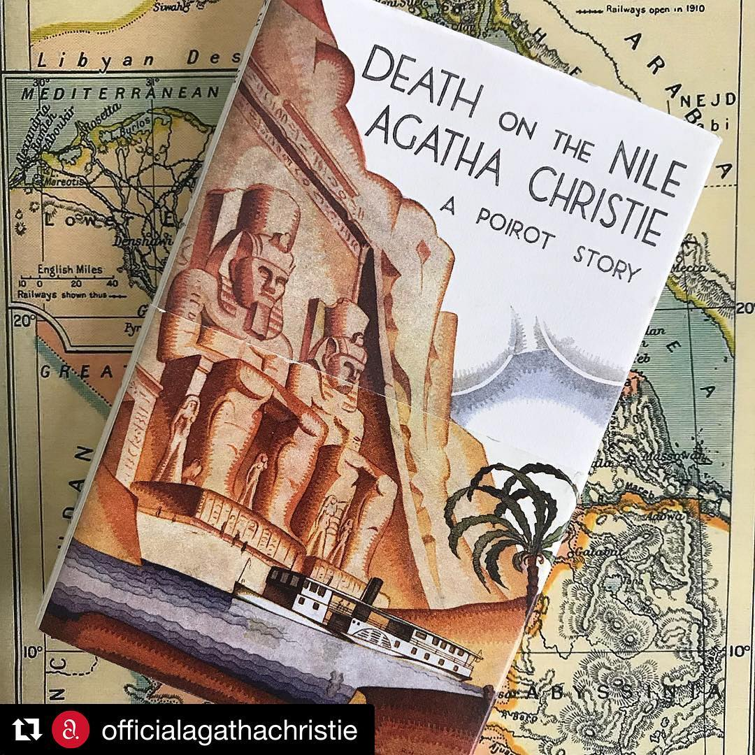 Another Agatha Christie movie adaptation. Don't you love this cover? It's one of my all-time favorites @officialagathachristie (@get_repost)・・・Death on the Nile has been announced as the next Agatha Christie novel to be adapted…