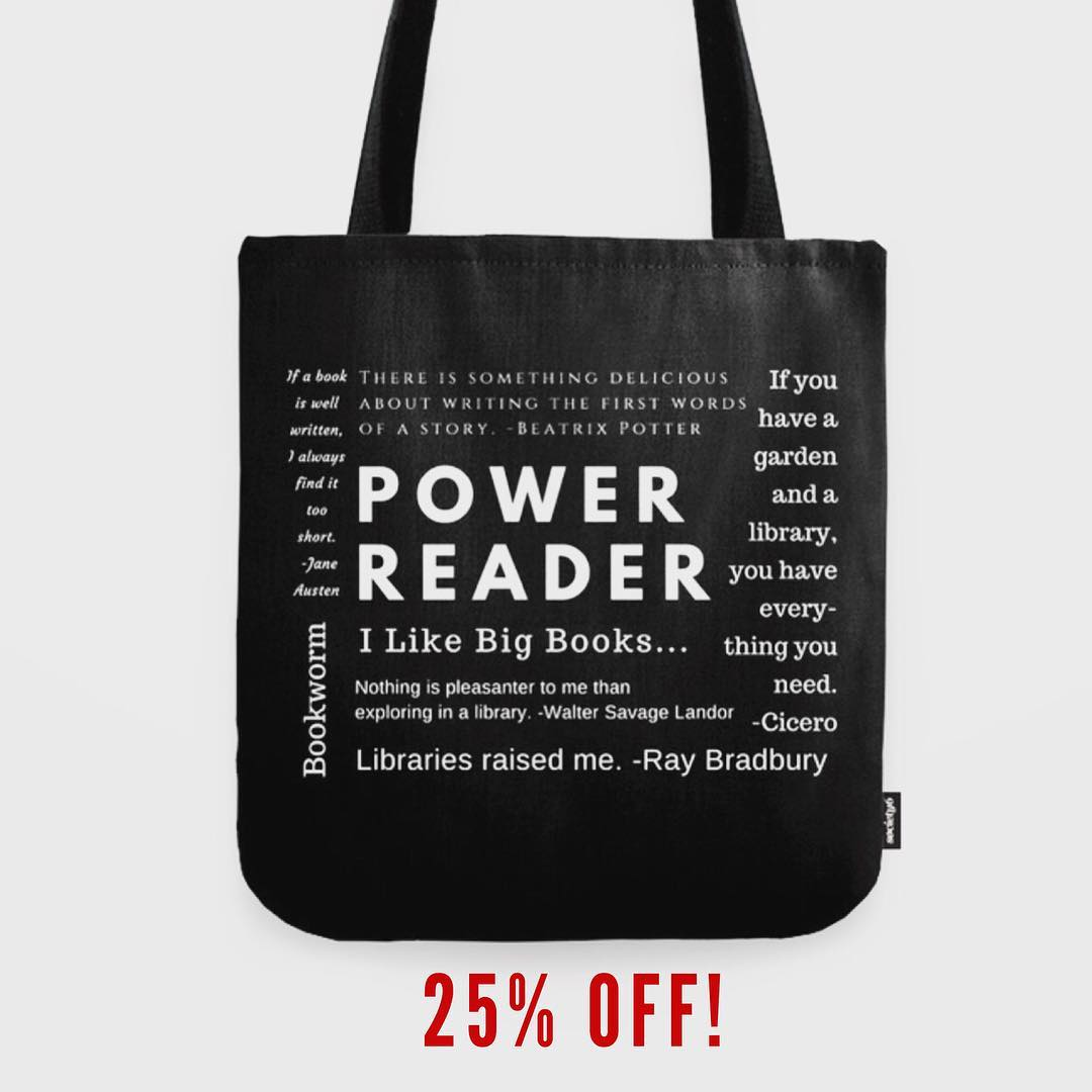 ? If you missed Cyber Monday you can still get 25% off this tote for all the bookworms on your Christmas list from now through midnight Monday (12/4). https://www.society6.com/sararosett