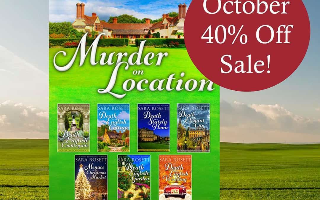Grab this deal on the complete Murder on Location series: October 40% off sale @kobobooks only! Ends 10/30.  Use code 40SAVE at checkout. https://www.kobo.com/us/en/ebook/murder-on-location-4