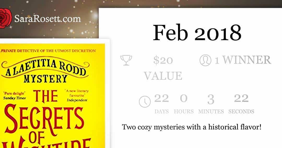 Giveaway for fans of historical mysteries! ~ http://www.sararosett.com/giveaways/feb-2018/